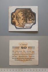 80 Heller from Waxenberg, Notgeld