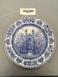 Plate with view of Old Library