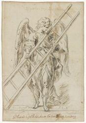 An angel holding a ladder