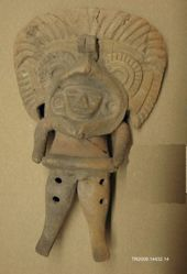 Flute in the Form of a Figure with Butterfly Headdress