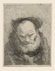 Old Man with a Beard, from the Raccolta di Teste (Collection of Heads)