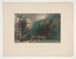View on the Erie Canal Near Little Falls, illustration for Nathaniel Parker Willis's book American Scenery