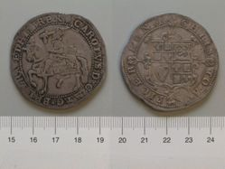 1 Shilling of Charles I, King of England from Tower Mint, London