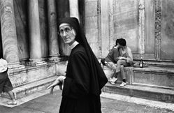 Donna Ferrato, Lovers and Holy Child Nun, Venice, Italy, from the series Holy