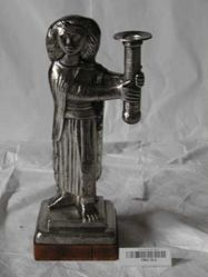 Two candleholders, representing man and woman (2. Woman)
