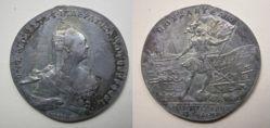 Silver poltina (1/2 ruble) of Elizabeth