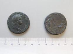 Orichalcum sestertius of Nero, from Lugdunum