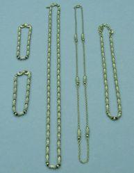 5-piece set: Necklace, chain necklace, choker, 2 bracelets