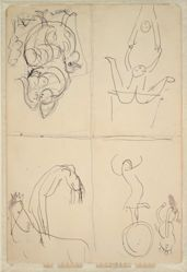 Sketches of Circus Scenes (recto and verso)