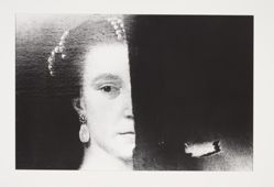 (Untitled) Old Master Portrait of a Woman, Torn in Half, from the portfolio, CHIAROSCURO, 1982