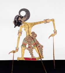 Shadow Puppet (Wayang Kulit) of Bima, from the set Kyai Drajat