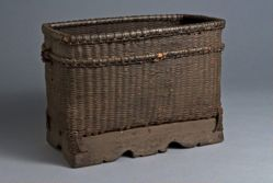Basket with Wood Base