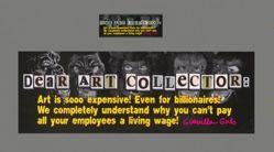 Dear Art Collector Billionaire, from the Guerrilla Girls' Portfolio Compleat 2012–2016 Upgrade