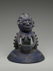 Lid to Vessel for Stones of the River God Erinle (Omori Awo Ota Erinle)