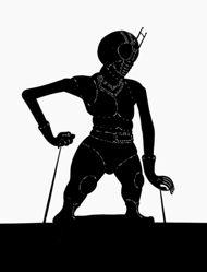 Shadow Puppet (Wayang Kulit) of Kesatria Baja Hitam or Kamen Rider Black