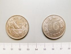 Cent of Dom Mintoff from Malta
