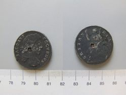 Tin halfpenny of James II