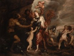 "Venus at the Forge of Vulcan, also known as ""Thetis receives the Arms of Achilles"""