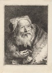 Old Man with a Bracelet, from the Raccolta di Teste (Collection of Heads)