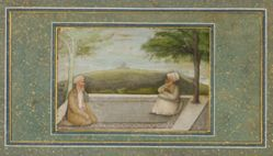 Mulla Shah and Mian Mir on a Terrace