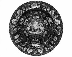 Plate with Medallion Portraits of Washington and Lafayette