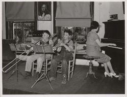 Music Lesson, Grade School, San Augustine, Texas April 1939