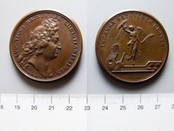 Bronze Medal from France of Louis XIV- Victory at Tobago