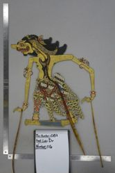 Shadow Puppet (Wayang Kulit) of possibly Anyo Burisi, from the set Kyai Drajat