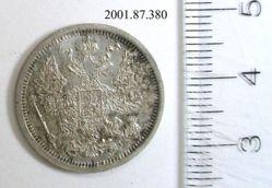 Silver 20 kopek of Alexander III