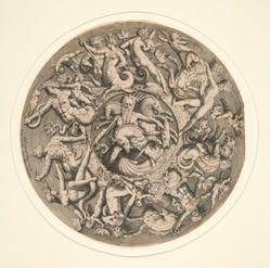Neptune's Kingdom (circular design for a plate)