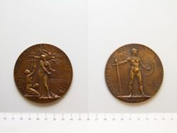 Belgian Medal Commemorating the Treaty of Versailles and Guarding the Rhine