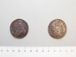 1/2 Ecu Aux Lauriers of Louis XVI, King of France from France
