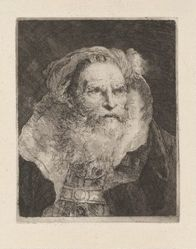 Old Man Meditating, from the Raccolta di Teste (Collection of Heads)