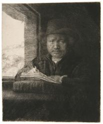 Self-Portrait: Drawing at a Window