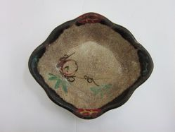Dish with Plum Design