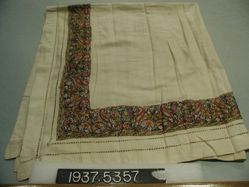 Square of embroidered plain cloth