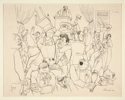 Caricature of a Political Rally