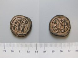 Copper follis (40-nummi) of Heraclius and Heraclius Constantine from Constantinople