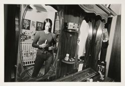 Monica (mirrored-image in bedroom), Lindsay Park, Brooklyn, NY, 1998