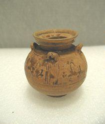 Jar of hu shape with four handles