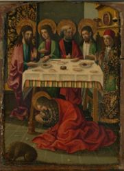 Saint Mary Magdalen anointing the feet of Christ