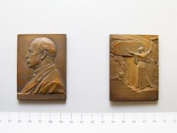 Bronze Plaquette of Oscar Montelius of Sweden