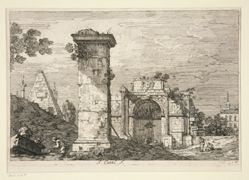 Landscape with Ruined Monuments, from the series Vedute (Views)