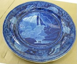 Plate with a view of Table Rock, Niagara