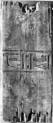 Panel of coffin of Djehuty-Nakhte; foot end, middle section