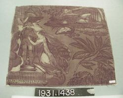 """Length of printed cotton, """"Monument to Napoleon"""""""