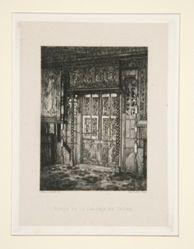Porte de la galerie de chêne (Door of the Oak Gallery), pl. 8 from the suite Chez Victor Hugo (Victor Hugo's House)