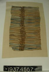 Fragment of plain cloth, ikat dyed and painted