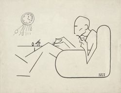 Caricature of Marcel Duchamp