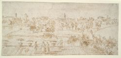 Venetian Landscape with Three Figures